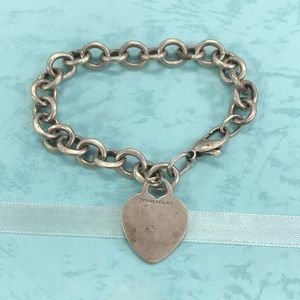 Tiffany & Co  heart tag bracelet sterling silver
